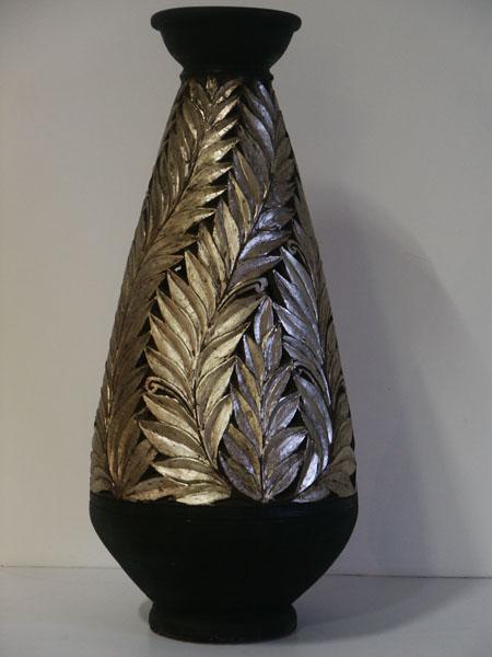 Silver Leaf Vase Vase And Cellar Image Avorcor